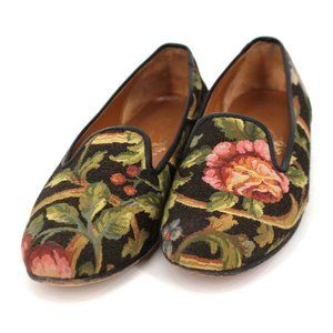 Stubbs and Wootton Floral Palm Beach Loafers 6